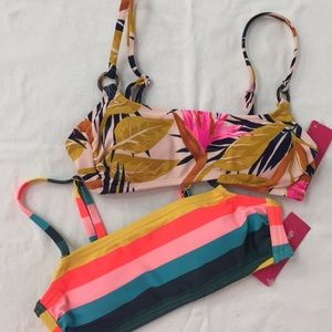 Set of 2 Xhiliration Bikini Tops XS NWT